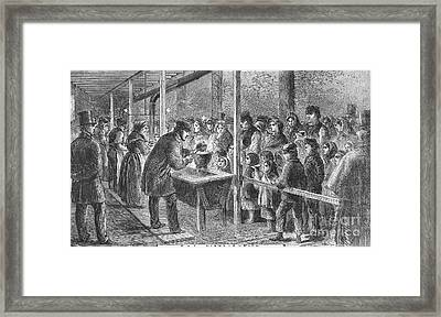 England: Soup Kitchen, 1862 Framed Print by Granger