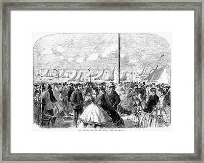 England: Yachting, 1864 Framed Print by Granger