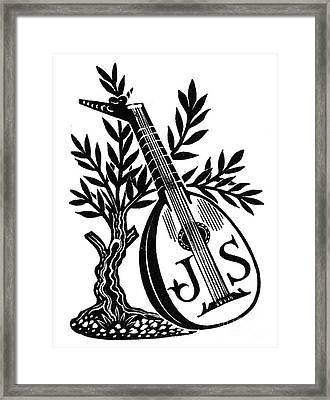 English Bookplate Framed Print by Granger