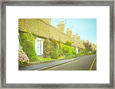English Cottages Framed Print by Tom Gowanlock