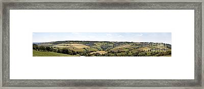 English Countryside Panorama Framed Print by Jane Rix
