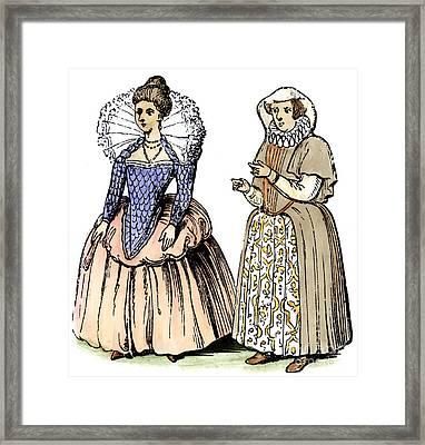 English Women Framed Print by Granger