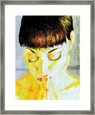 Enlightened Woman Framed Print by Jose Miguel Barrionuevo