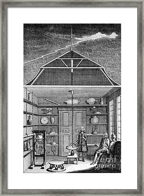 Enlightenment Lightning, 1766 Framed Print by Science Source
