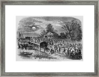 Enslaved African-americans Running Framed Print by Everett