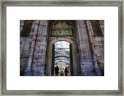 Enter Framed Print by Joan Carroll