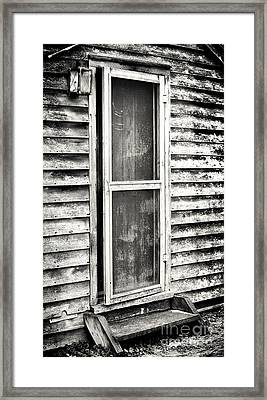 Enter Through The Back Door Framed Print by John Rizzuto