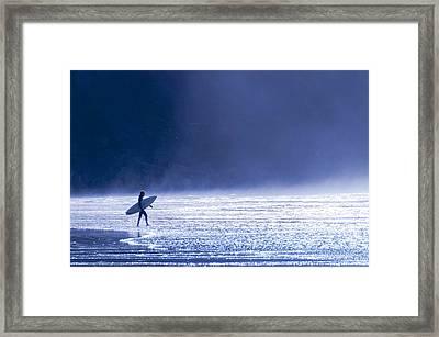 Entering The Blue Framed Print by Brian Bonham