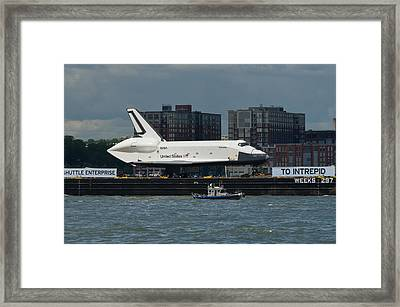 Enterprise To Intrepid Framed Print by Gary Eason