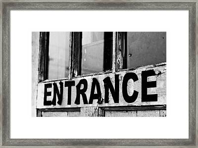 Entrance Framed Print by Off The Beaten Path Photography - Andrew Alexander