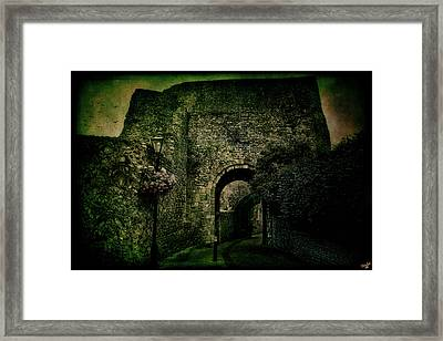 Entrance To Lewes Castle Framed Print by Chris Lord