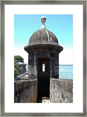 Entrance To Sentry Tower Castillo San Felipe Del Morro Fortress San Juan Puerto Rico Poster Edges Framed Print by Shawn O'Brien