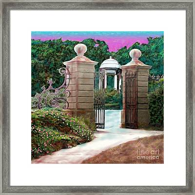 Entrance To The Garden Framed Print by Earl Jackson