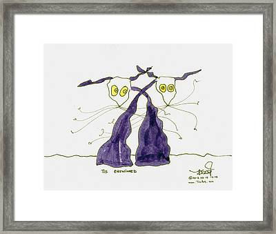 Entwined Framed Print by Tis Art