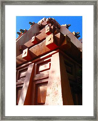 Epcot Mexico Framed Print by Denise Keegan Frawley