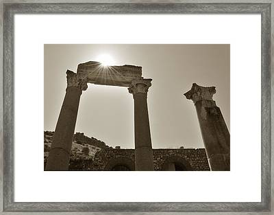 Ephesus 2011 Ad Framed Print by Terence Davis