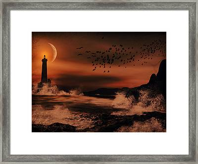 Episode In The Night  Framed Print by Lourry Legarde