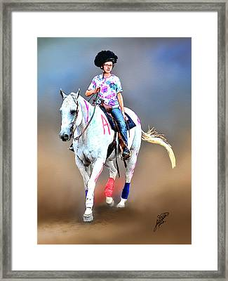 Equestrian Competition II Framed Print by Tom Schmidt
