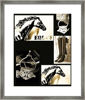 Equestrian Licensing Art Framed Print by Anahi DeCanio