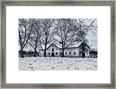 Erdenheim Farm In The Snow Framed Print by Bill Cannon