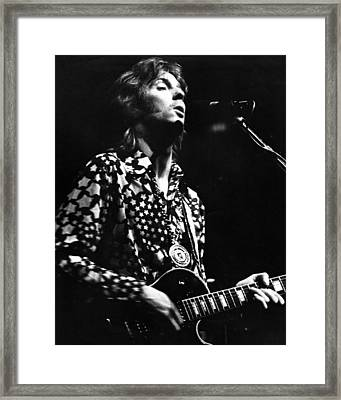 Eric Clapton 1967or 8 In Cream Framed Print by Chris Walter
