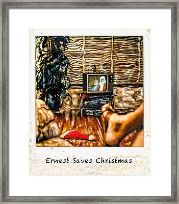 Ernest Saves Christmas Framed Print by Lou  Novick