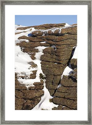 Eroded Granite Framed Print by Duncan Shaw