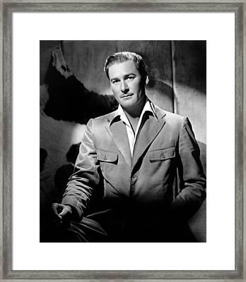 Errol Flynn, 111943 Framed Print by Everett