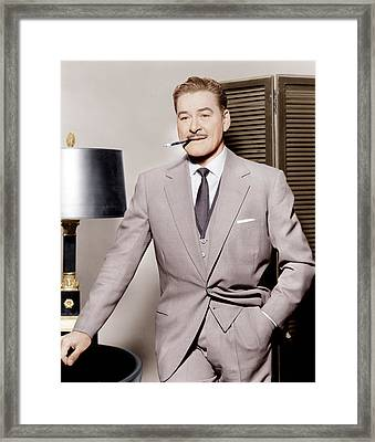 Errol Flynn, Ca. 1950s Framed Print by Everett