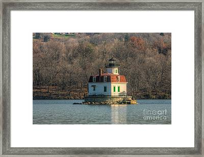 Esopus Meadows Lighthouse I Framed Print by Clarence Holmes