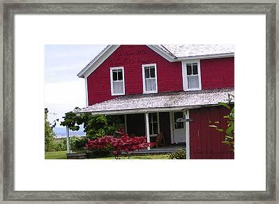 Espy House 1871c. Co Founder Oysterville Framed Print by Glenna McRae