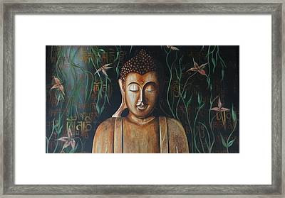 Essence Of Tranquility Framed Print by Tanuja Chopra