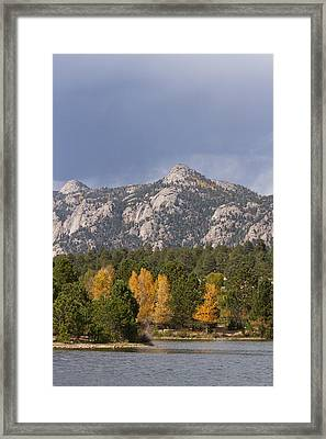 Estes Park Autumn Lake View Vertical Framed Print by James BO  Insogna