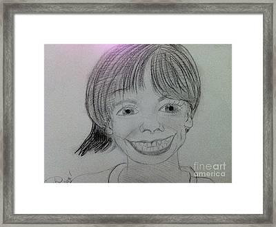 Etan Patz Framed Print by Charita Padilla