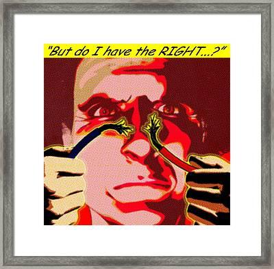 Ethical Dilemma Framed Print by Christian Darkin