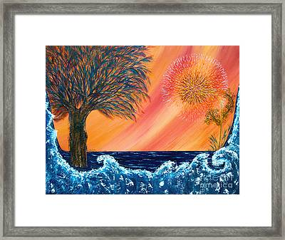 Europa Tsunami Framed Print by Pm Ernst