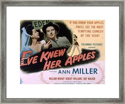 Eve Knew Her Apples, Ann Miller Framed Print by Everett