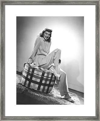Evelyn Keyes, Mid-1940s Framed Print by Everett