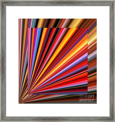 Even Lines Get Colorful Framed Print by Fania Simon