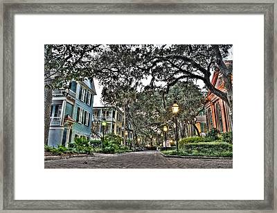 Evening Campus Stroll Framed Print by Andrew Crispi