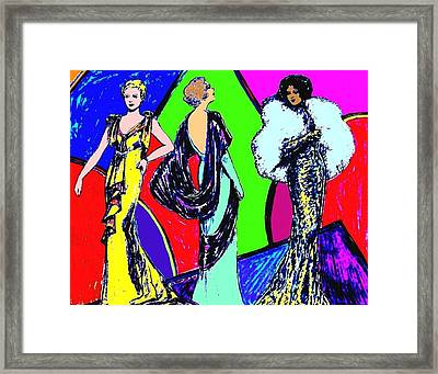 Evening Dresses Framed Print by Mel Thompson