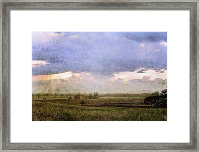 Evening Field Framed Print by Skip Nall