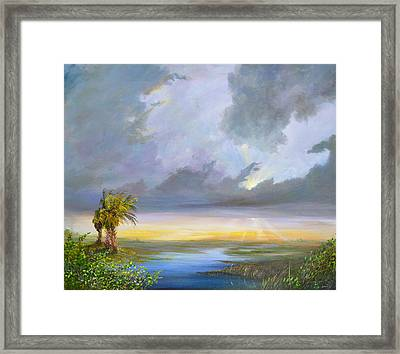 Evening Glow Framed Print by AnnaJo Vahle