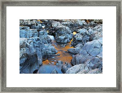 Evening Light On The Black River At Johnsons Shut Ins State Park IIi Framed Print by Greg Matchick