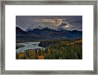 Evening Matanuska Valley  Framed Print by Sam Amato