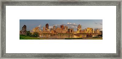 Evening Panorama Framed Print by Jennifer Grover