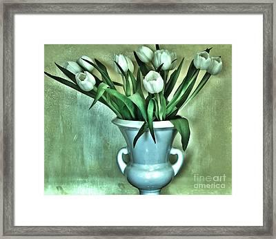 Evening Party Tulips Framed Print by Marsha Heiken