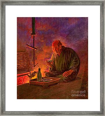 Evening Sake 1913 Framed Print by Padre Art