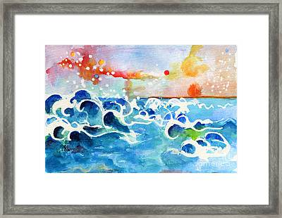 Evening Tide Framed Print by Ginette Callaway