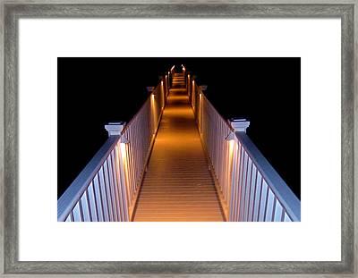 Evening Walk Framed Print by Heidi Horowitz